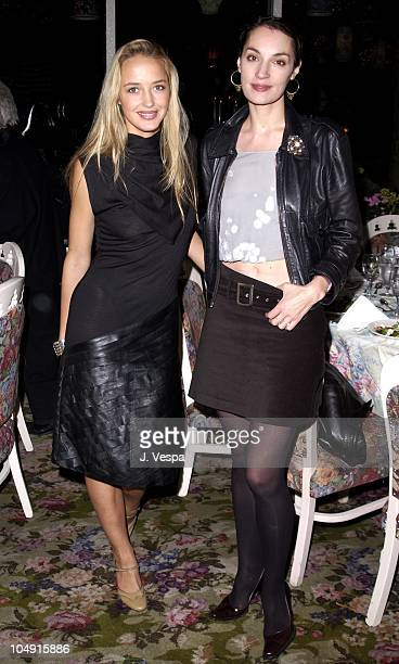 Helene de Fougerolles & Jeanne Balibar during New York Film Festival Opening Night Party for Va Savoir at Tavern on the Green in New York City, New...