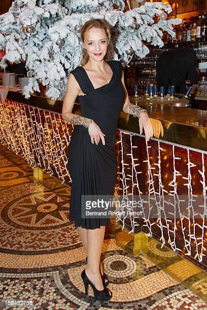 Helene de Fougerolles poses at restaurant Le Grand Colbert on December 17, 2012 in Paris, France.