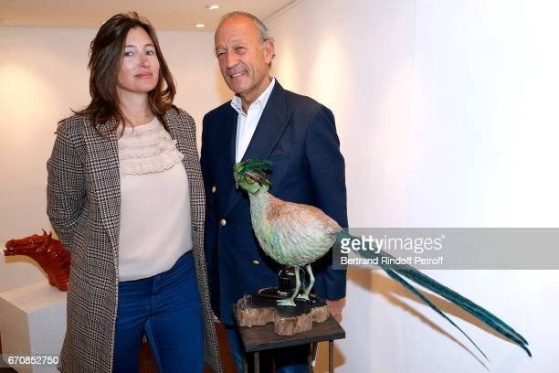 Helene de Pourtales and Thierry Gaubert attend the Rose De Ganay Exhibition Preview at Atelier Visconti on April 20 2017 in Paris France