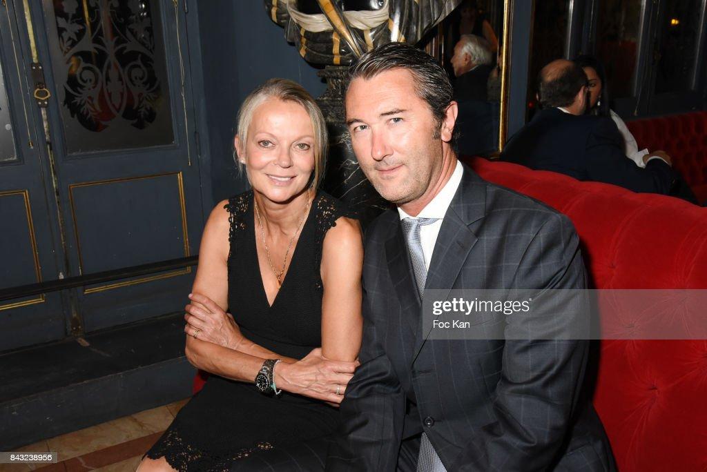 Helene de Yougoslavie and fiance Stanislas fougeron attend The Art De La Matiere AD Interieurs 2017 After Cocktail Dinner at La Perouse on September 5, 2017 in Paris, France.