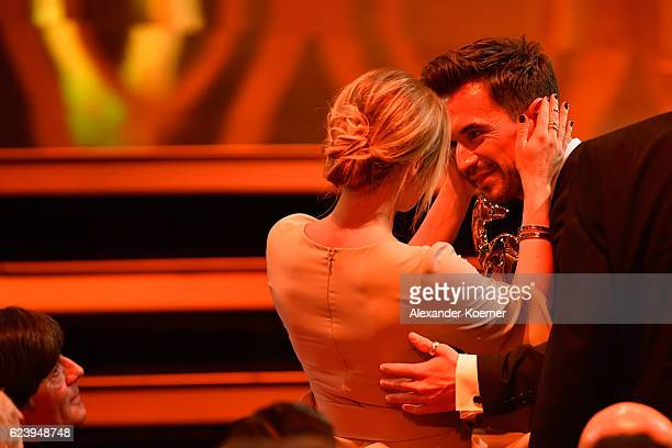 Helene Fischer and Florian Silbereisen are seen during the Bambi Awards 2016 show at Stage Theater on November 17, 2016 in Berlin, Germany.