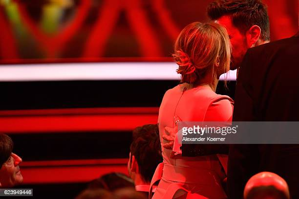 Helene Fischer and Florian Silbereisen are seen during the Bambi Awards 2016 show at Stage Theater on November 17 2016 in Berlin Germany