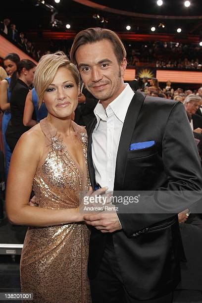 Helene Fischer and Florian Silbereisen attend the 47th Golden Camera Awards at the Axel Springer Haus on February 4, 2012 in Berlin, Germany.