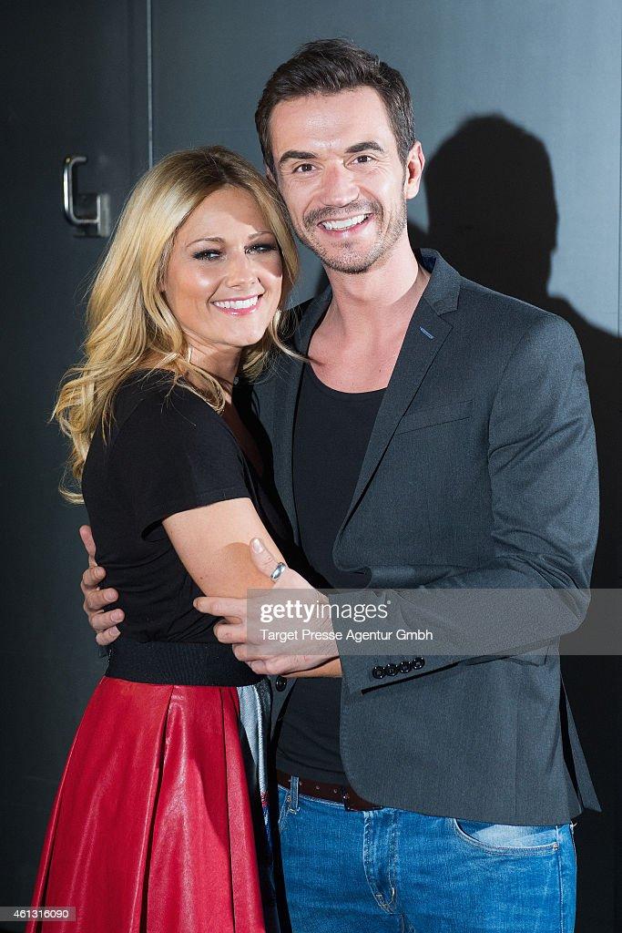 Helene Fischer and Florian Silbereisen attend the 'Das grosse Fest der Besten' tv show at Velodrom on January 10, 2015 in Berlin, Germany.