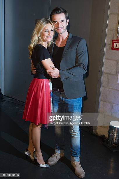 Helene Fischer and Florian Silbereisen attend the 'Das grosse Fest der Besten' tv show at Velodrom on January 10 2015 in Berlin Germany