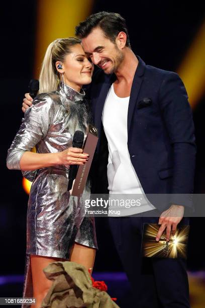 Helene Fischer and Florian Silbereisen during the television show 'Schlagerchampions Das grosse Fest der Besten' at Velodrom on January 12 2019 in...