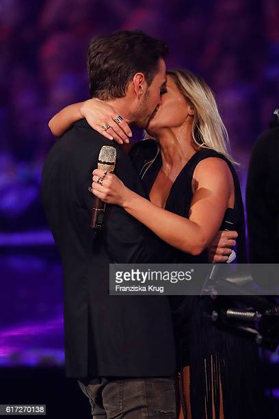 Helene Fischer and her boyfriend Florian Silbereisen during the taping of the show 'Schlagerboom Das Internationale Schlagerfest' at Westfalenhalle...