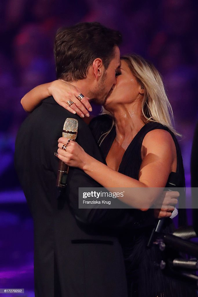 Helene Fischer and her boyfriend Florian Silbereisen during the taping of the show 'Schlagerboom - Das Internationale Schlagerfest' at Westfalenhalle on October 21, 2016 in Dortmund, Germany.