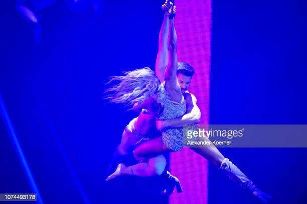 Helene Fischer and Thomas Seitel perform live on stage during the Bambi Awards 2017 show at Stage Theater on November 16 2017 in Berlin Germany