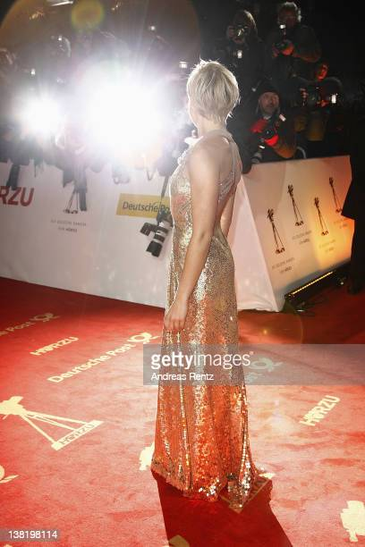 Helene Fischer attends the 47th Golden Camera Awards at the Axel Springer Haus on February 4, 2012 in Berlin, Germany.