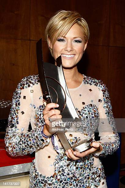 Helene Fischer attends the Echo Awards 2012 party at Palais am Funkturm on March 22 2012 in Berlin Germany