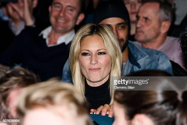 Helene Fischer attends the 'Tatort Der Grosse Schmerz' premiere in Berlin at Kino Babylon on December 16 2015 in Berlin Germany