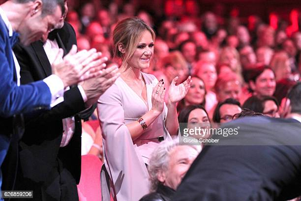 Helene Fischer in the audience during the Bambi Awards 2016 show at Stage Theater on November 17 2016 in Berlin Germany