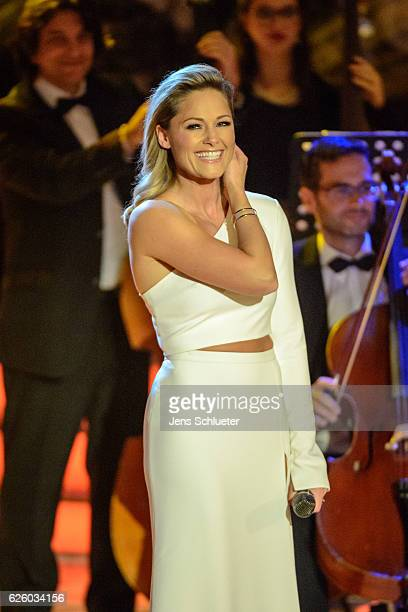 Helene Fischer is seen on stage during the tv show 'Das Adventsfest der 100000 Lichter' on November 26 2016 in Suhl Germany