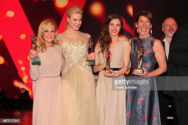 Helene Fischer Larissa Marolt Miriam Stein and Adele Neuhauser attend the 25th Romy Award 2014 at Hofburg Vienna on April 26 2014 in Vienna Austria
