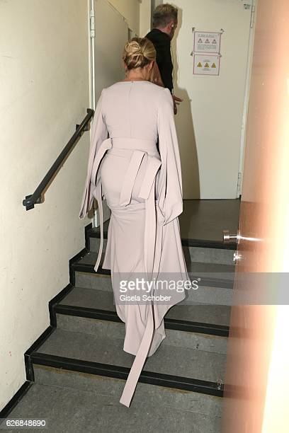 Helene Fischer leaves the Bambi Awards 2016 show at Stage Theater on November 17 2016 in Berlin Germany