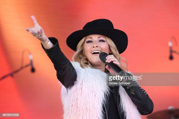 Helene Fischer performs at the Top of the Mountain Closing Concert at Idalp stage on April 30 2018 in Ischgl Austria