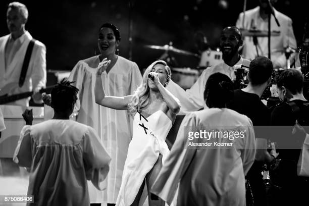 Helene Fischer performs during the Bambi Awards 2017 show at Stage Theater on November 16 2017 in Berlin Germany