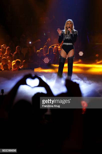 Helene Fischer performs during the tv show 'Heimlich Die grosse SchlagerUeberraschung' on March 17 2018 in Munich Germany