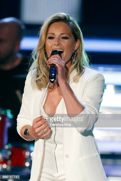 Helene Fischer performs on stage at the tv show 'Willkommen bei Carmen Nebel' at Velodrom on May 20 2017 in Berlin Germany