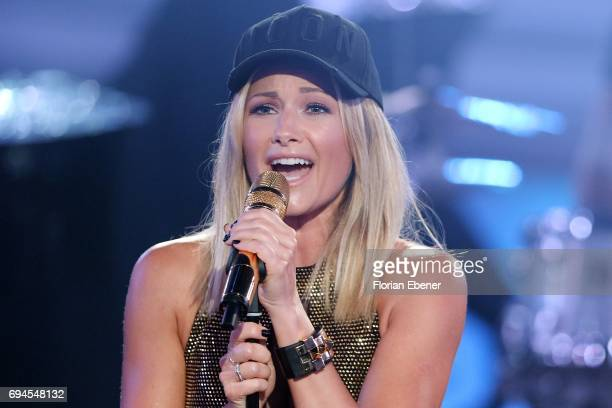 Helene Fischer performs on stage during the final show of the tenth season of the television competition 'Let's Dance' on June 9 2017 in Cologne...