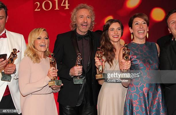 Helene Fischer Thomas Gottschalk Miriam Stein and Adele Neuhauser attend the 25th Romy Award 2014 at Hofburg Vienna on April 26 2014 in Vienna Austria