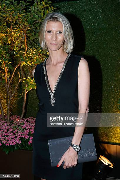 Helene Gateau attends the Amfar Paris Dinner Stars gather for Amfar during the Haute Couture Week Held at The Peninsula Hotel on July 3 2016 in Paris...