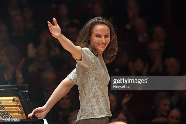 Helene Grimaud performing Brahms's Piano Concerto No 1 in D Minor with the Philadelphia Orchestra led by Michael Tilson Thomas at Carnegie Hall on...