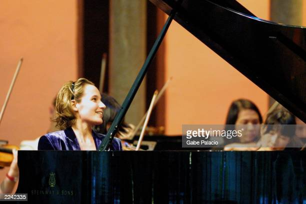 Helene Grimaud piano performs the Rachmaninoff Piano Concerto No 2 in c minor Op 18 with Peter Oundjian conductor and the Orchestra of St Luke's in...