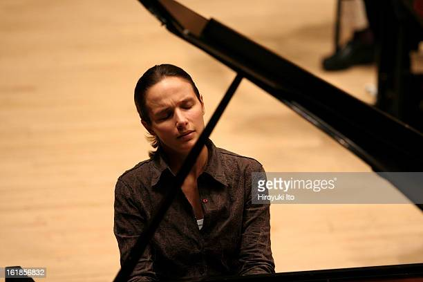 Helene Grimaud with Orchestra of St Luke's in rehearsal on Saturday February 2 2008 at Carnegie Hall