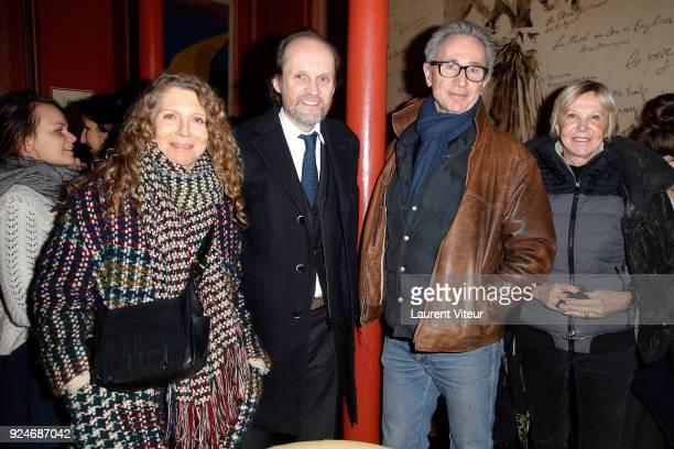 "Helene Lhermitte, Producer Jean-Marc Dumontet, Actor Thierry Lhermitte and Journalist Marie-Christiane Marek attend ""L'Evenement"" Theater Play during..."