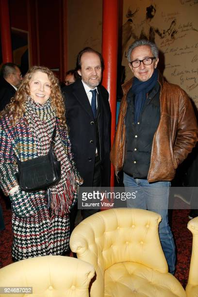 """Helene Lhermitte, Producer Jean-Marc Dumontet and Actor Thierry Lhermitte attend """"L'Evenement"""" Theater Play during 'Paroles Citoyennes' 10 shows to..."""