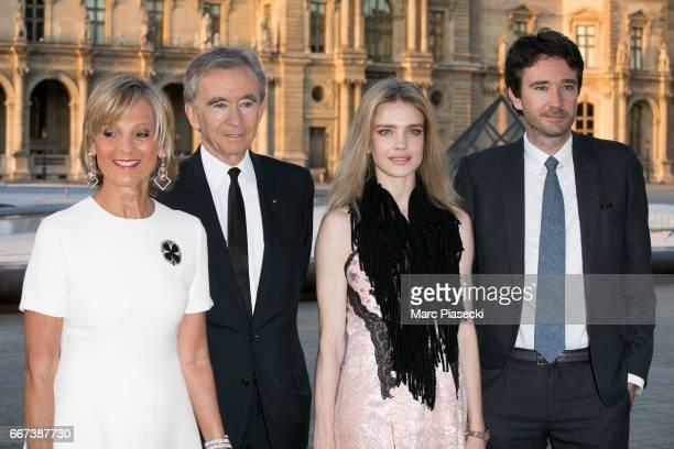 Helene Mercier Arnault Bernard Arnault Natalia Vodianova and Antoine Arnault attend the 'Louis Vuitton Masters a collaboration with Jeff Koons'...