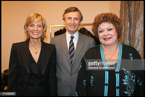 Helene Mercier Arnault Nicolas Beytout and Brigitte Engerer at Les elections du Piano By Radio Classique Held At La Salle Pleyel In Paris