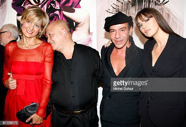 Helene Mercier Arnault Tyen John Galliano and Monica Bellucci attend Tyen 30 Years of Creation cocktail celebration at Palais de Tokyo on September...