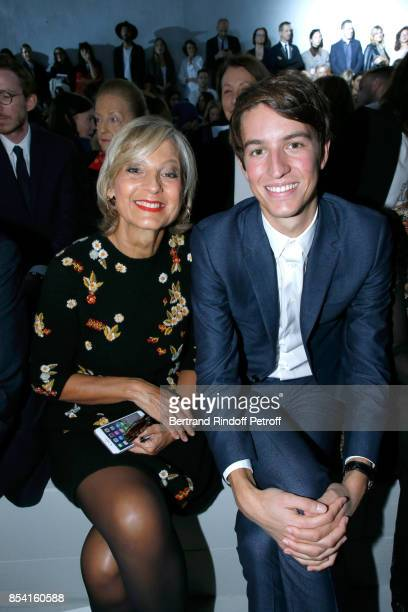 Helene MercierArnault and her son CEO of Rimowa Alexandre Arnault attend the Christian Dior show as part of the Paris Fashion Week Womenswear...