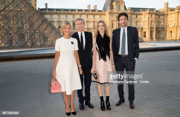 Helene Mercier-Arnault, Bernard Arnault, Natalia Vodianova and Antoine Arnault attend the Louis Vuitton's Dinner for the Launch of Bags by Artist...
