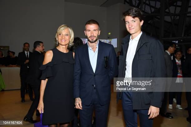 Helene MercierArnault David Beckham and Alexandre Arnault attend the Opening Of The New Exhibitions JeanMichel Basquiat And Egon Schiele At The...