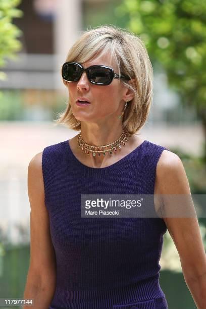 Helene Mercier-Arnault is sighted around the 'Hermitage' hotel before the Royal Wedding of Prince Albert II of Monaco to Charlene Wittstock in the...