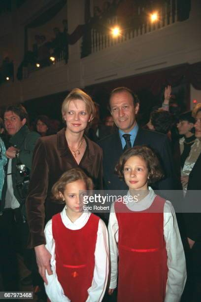 Helene of Yugoslavia with her husband Thierry Gaubert their daughters Milena Anastasia