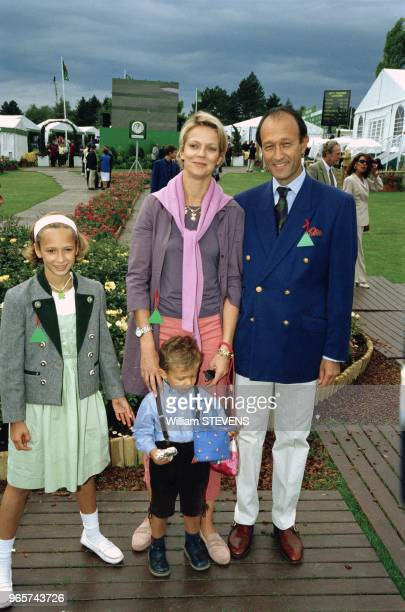 Helene of Yugoslavia with husband Thierry Gaubert and children at Lancome Trophy September 19 1999