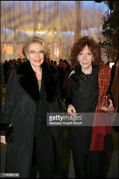 Helene Rochas and Charlotte Aillaud at Art Collections Of Yves Saint Laurent And Pierre Berge Auction At Grand Palais