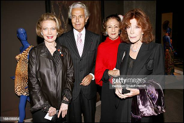 Helene Rochas Jean Pierre Marcie Riviere and his wife and Charlotte Aillaud Dinner at the Yves Saint Laurent Pierre Berge foundation for the...