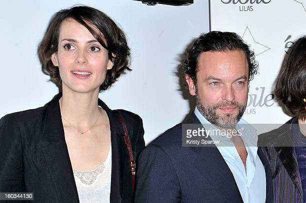 Helene Ruys and Patrick Mille attend the 'Tu Honoreras Ta Mere Et Ta Mere' Premiere at the Cinema Etoile Lilas on January 29, 2013 in Paris, France.
