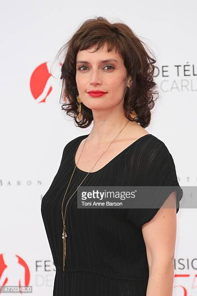 Helene Seuzaret attends the 55th Monte Carlo TV Festival Opening Ceremony at the Grimaldi Forum on June 13 2015 in MonteCarlo Monaco