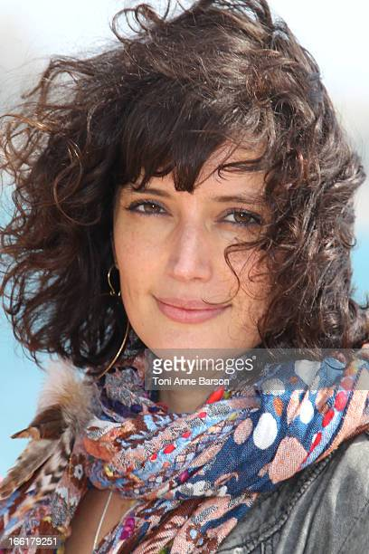 """Helene Seuzaret attends the """"Marseille"""" photocall on April 9, 2013 in Cannes, France."""