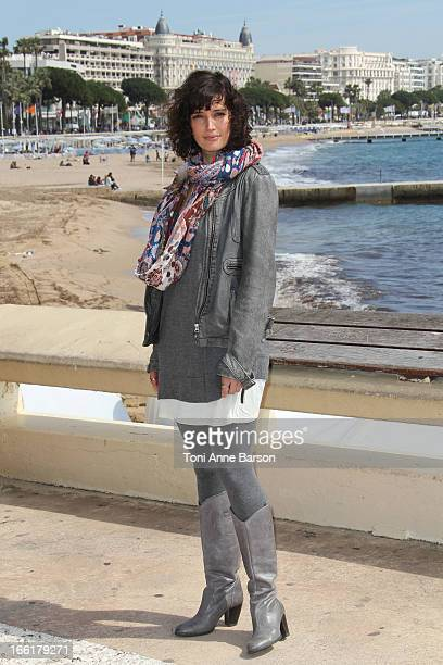 Helene Seuzaret attends the Marseille photocall on April 9 2013 in Cannes France