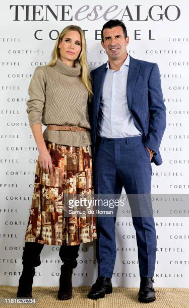 Helene Svedin and Luis Figo present new Cortefiel campaign at Los Gallos on October 17 2019 in Madrid Spain