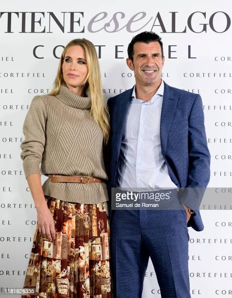 Helene Svedin and Luis Figopresent new Cortefiel campaign at Los Gallos on October 17 2019 in Madrid Spain