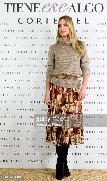 Helene Svedin presents new Cortefiel campaign at Los Gallos on October 17 2019 in Madrid Spain